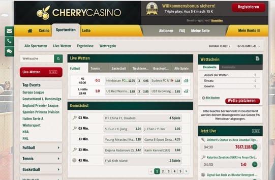 Wetten mit Startguthaben bei Cherry