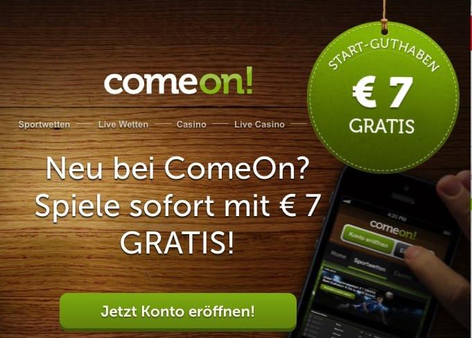 Wetten kostenlos bei Comeon