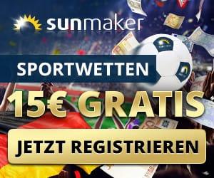 Sunmaker Wettbonus für Sportwetten