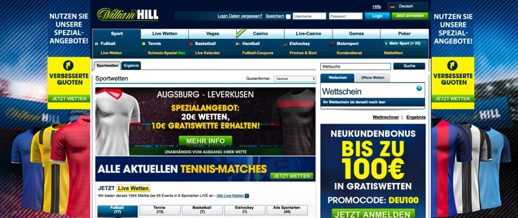 William Hill - bester Wettanbieter